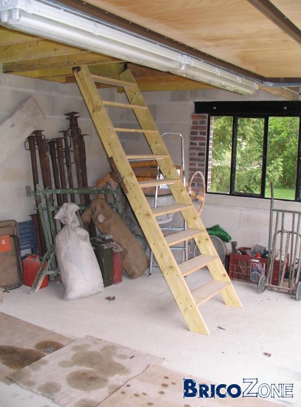 escalier normal escamotable sur charni 232 re