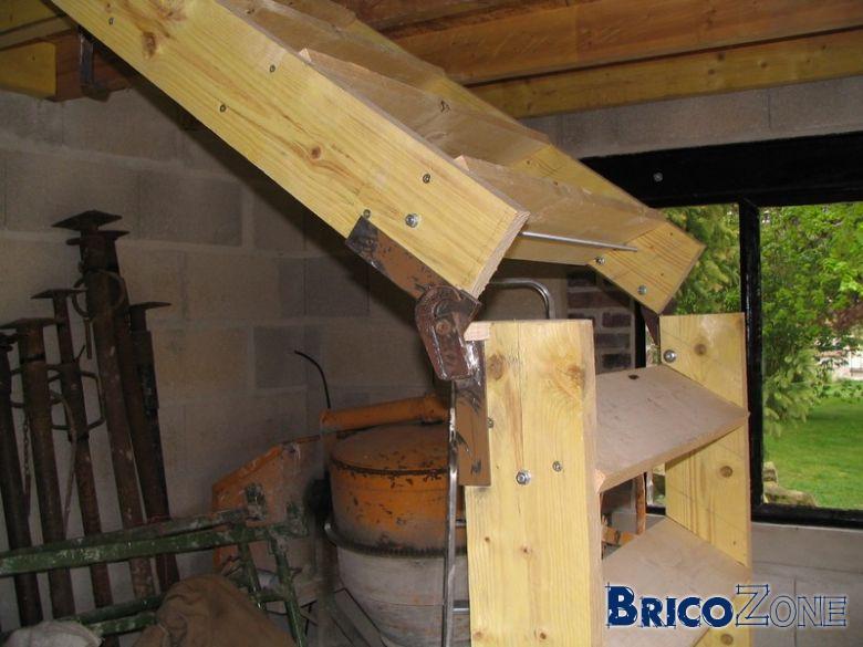 Escalier normal escamotable sur charni re for Escalier escamotable mezzanine