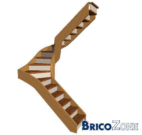 dimensionnement d'un escalier 2 quarts tournant