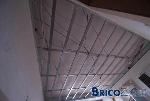 Faux-plafond RF 1 Heure sur structure metalstud
